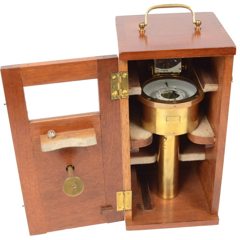 Magnetic Surveying Compass by E. Vion Paris, Early 1900