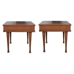 Pair of Modern American of Martinsville Rosewood Side or End Tables