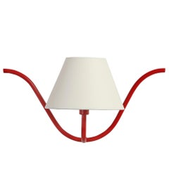 Jean Royère Style Ondulation I Wall Light in Red