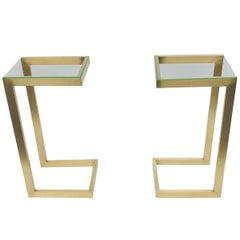 Pair of Guy Lefevre Fo Maison Jansen Sofa Table