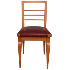 1930 Oak Chairs Series Leather Top August by Vallin