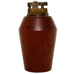 Scandinavian Modern Teak Cigarette Lighter Made in Norway