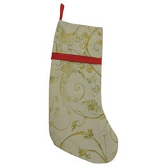 Artisanal Red Holiday Gift Stocking Double-Sided