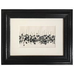 Günther Uecker Original Nail Embossing, 1978 in Flemish Frame