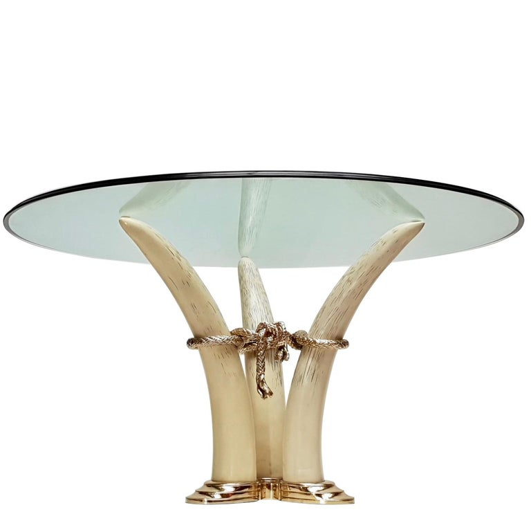 Hollywood Regency Dining Table by Valenti, Barcelona, Spain, circa 1970-1980 For Sale
