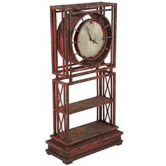 Unique Garden Clock in Original Paint
