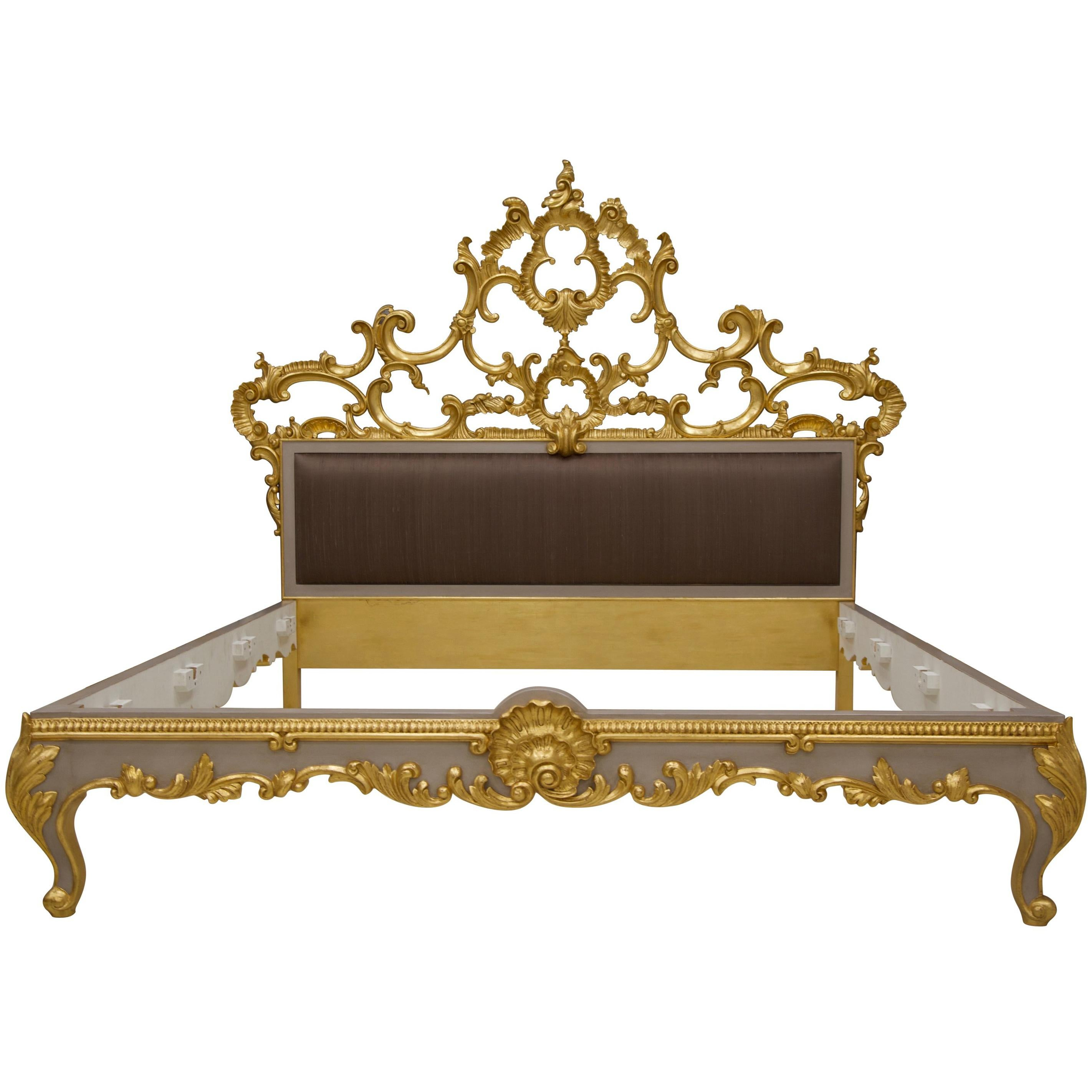 Venetian Bed, LXV Style, Hand Crafted, Made By La Maison London