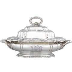 Tiffany & Co. Chrysanthemum Silver Entreé Dish