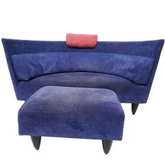 "Italian Modern Sofa and Ottoman in the ""Memphis"" Style"