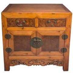 Cedar and Burl Wood Cabinet
