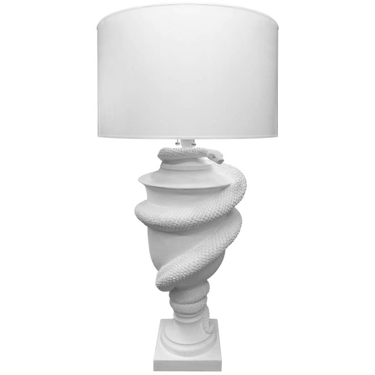 Flair Exclusive Grande Serpent Urn Table Lamp Handcrafted by George Sellers For Sale