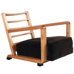 Streamline Vintage Art Deco Club Chair in Manner of KEM Weber