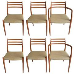 Set of Six Niels Moller Dining Chairs