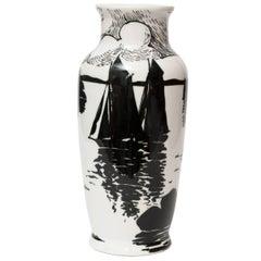 Swedish Art Deco Porcelain Vase by Algot Eriksson, for ALP, Lidkoping