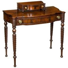 Classical Mahogany Dressing Table with Dressing Box, Salem or Portsmouth