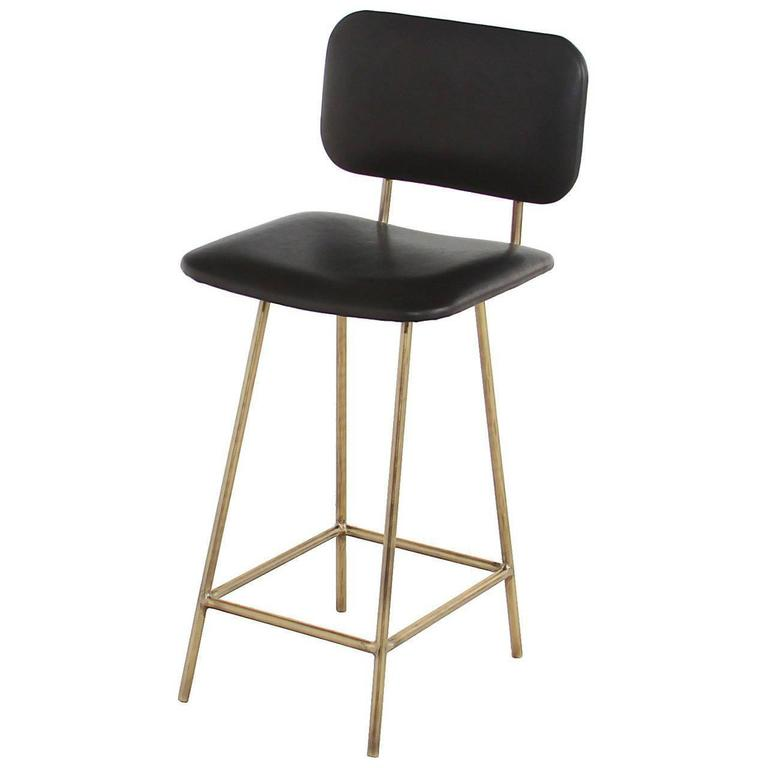 Brass Petra Bar Stool by Thomas Hayes Gallery For Sale