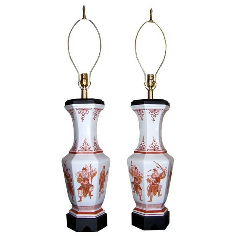 Pair of Asian Styles Table Lamps