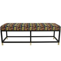 Blackened Steel Platform Bench