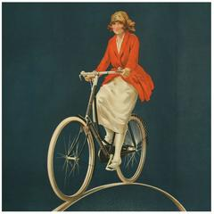 Vintage Cycling Poster, Raleigh Bicycle Advertising Poster