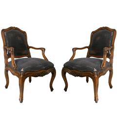 Pair of 18th Century French Louis XV Armchairs