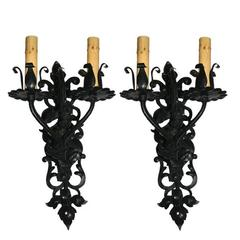 Foliage Wrought Iron Sconces