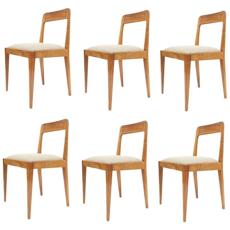 Set of Six Carl Auböck Wooden Chairs Mid-Century, 1950 For Sale