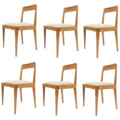 Set of Six Carl Auböck Wooden Chairs Mid-Century, 1950
