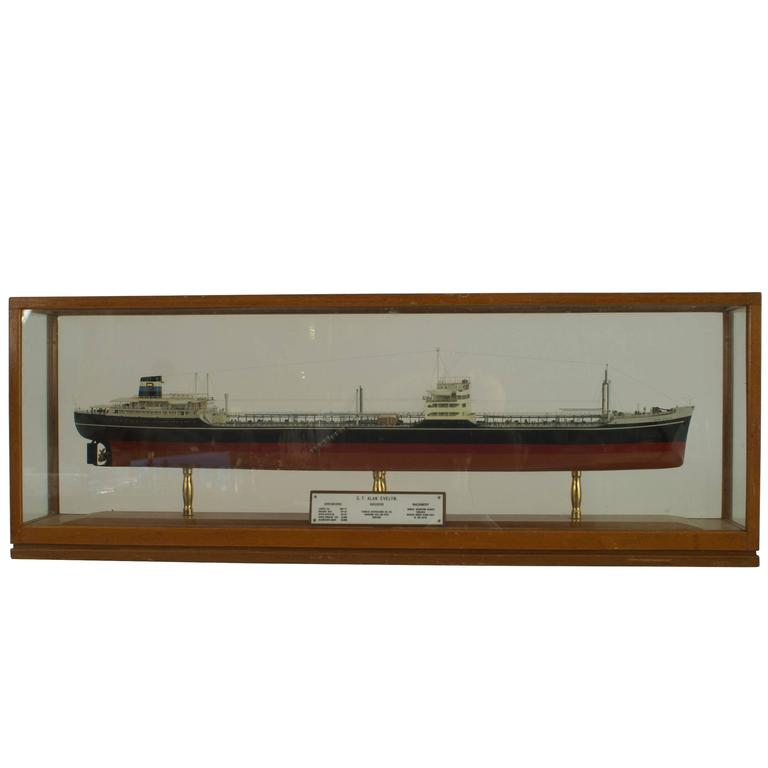 20th c. English Encased Model Ship by Alan Evelyn