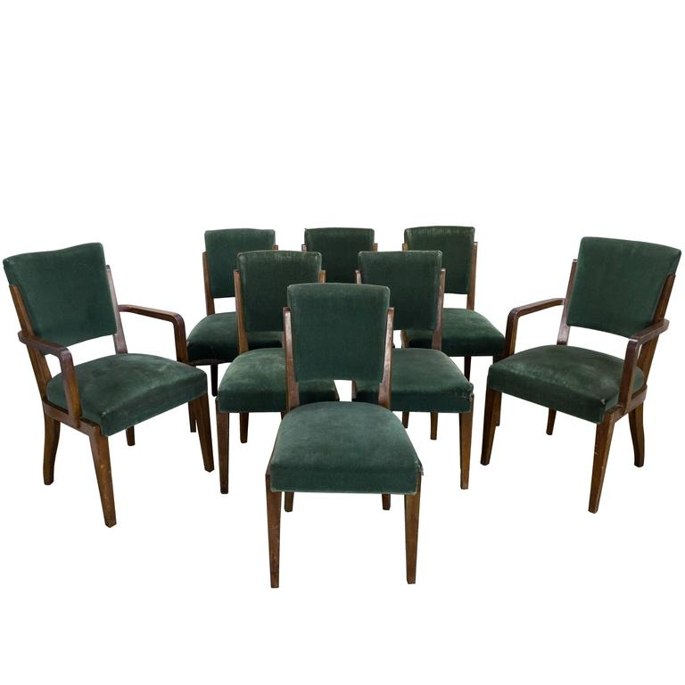 set of eight dining chairs french 1930s for sale at 1stdibs