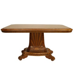 Continental German Inlaid Center Table