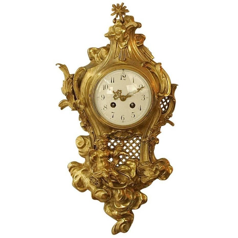 French 19th Century Cartel Clock in the Manner of Philippe Caffieri