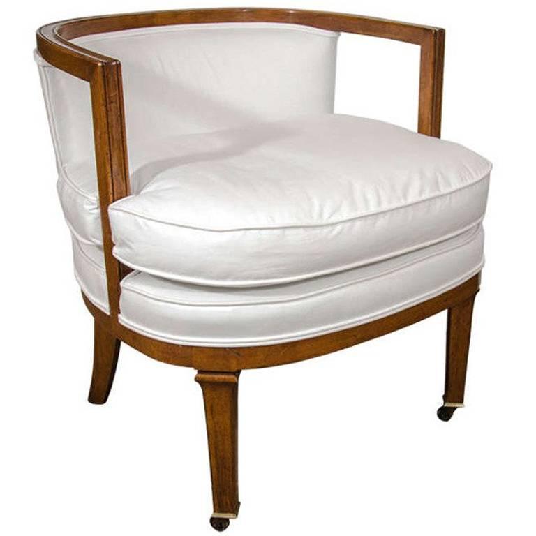 Vintage Barrel Back Chair For Sale  sc 1 st  1stDibs & Vintage Barrel Back Chair For Sale at 1stdibs