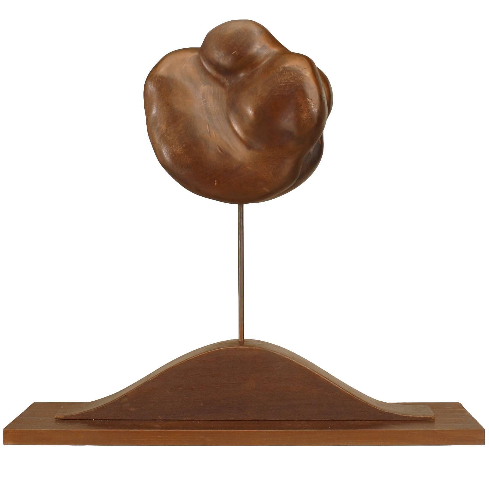20th Century American Freeform Wooden Sculpture