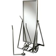 Steel Mirror on Wheels