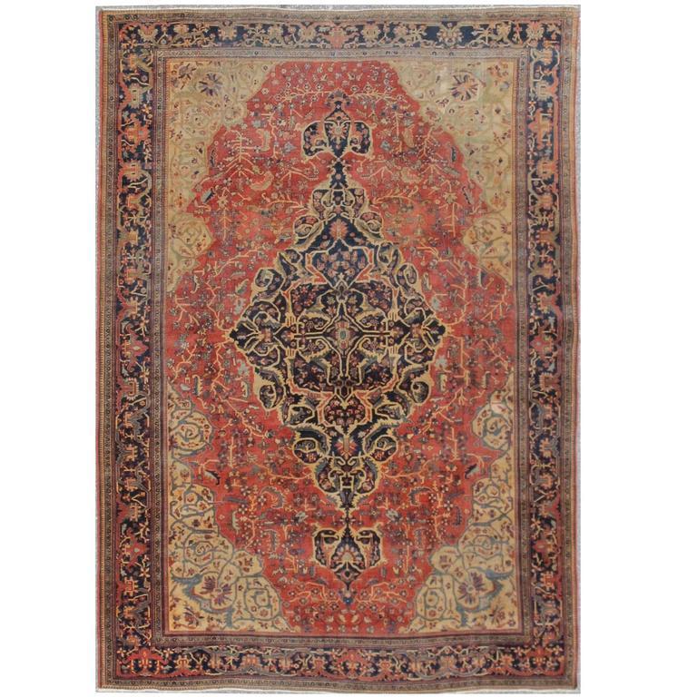 Antique Persian Sarouk Farahan Rug For Sale At 1stdibs