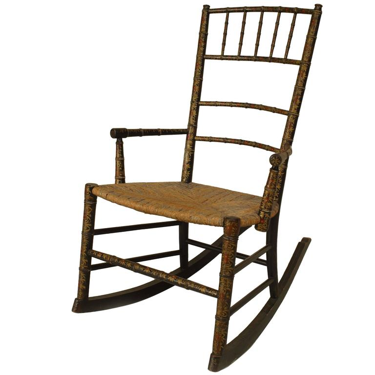 Th century american country style child s rocking chair