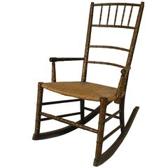 19th Century American Country Style Child's Rocking Chair