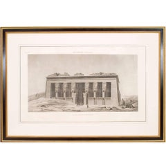 Large 19th Century French Neoclassical Egyptian Archaeological Print