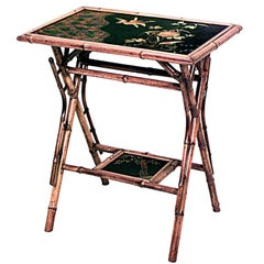 English Victorian Bamboo End Table