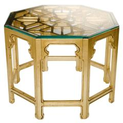 Vintage Giltwood Octagonal Center Table