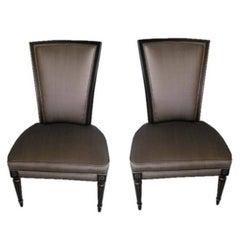 Pair of Jansen Style Slipper Chairs