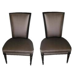 Pair of Jansen Style Slipper Chairs