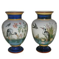 Pair of Vases with Landscapes