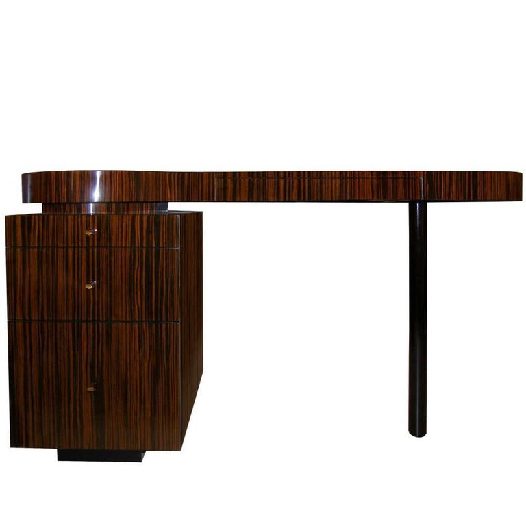 Perfect Macassar Ebony Desk By Craig Van Den Brulle For Sale
