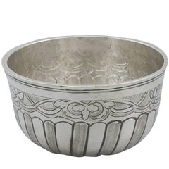 1790 Antique Russian Silver Drinking Bowl