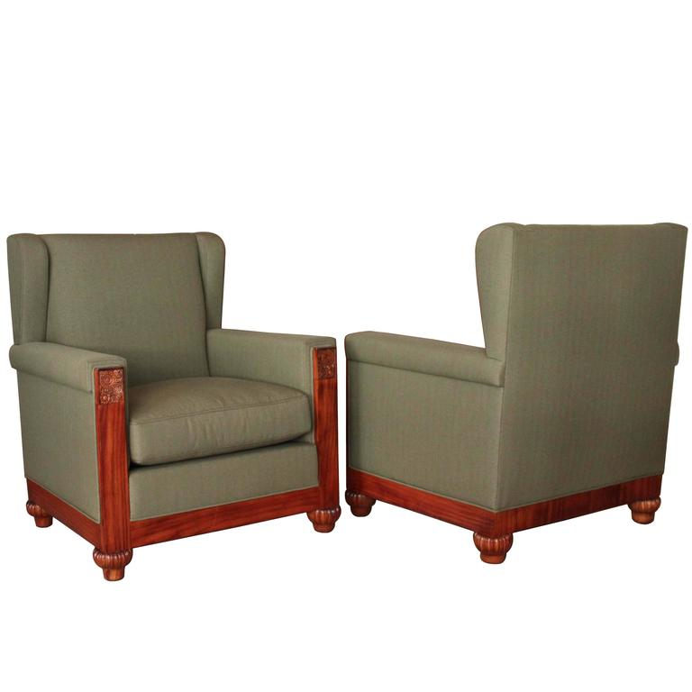 Pair of Armchairs Attributed to Paul Follot