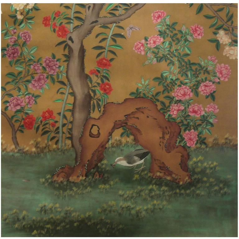 Antique Chinese Wallpaper Section
