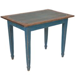 Light Blue Painted Gustavian Side Table