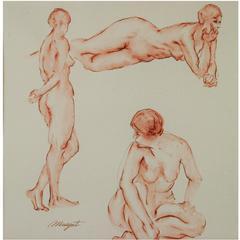 Three Women Posing Painting