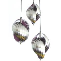 Danish Modern Lyfa & Mathieu Chandelier, 1960s Modernist Design Pendant Lamp